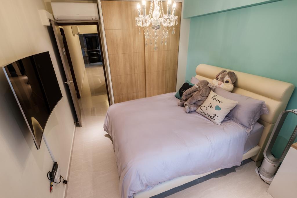 Modern, HDB, Bedroom, Sengkang East Way (Block 122B), Interior Designer, DB Studio, Contemporary
