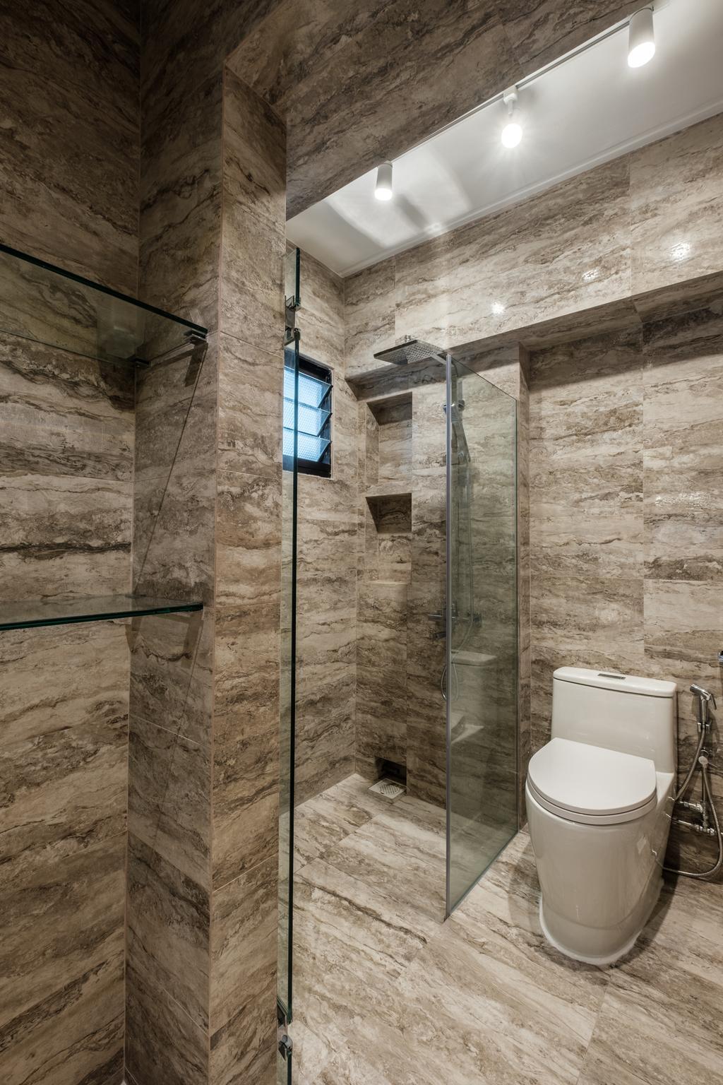 Modern, HDB, Bathroom, Sengkang East Way (Block 122B), Interior Designer, DB Studio, Contemporary