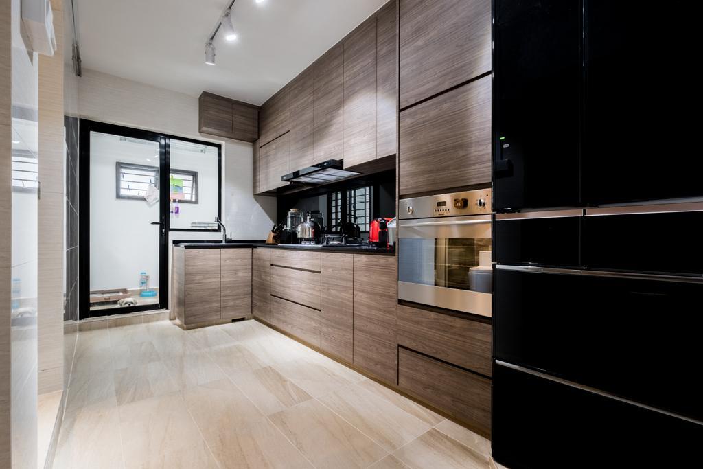 Modern, HDB, Kitchen, Sengkang East Way (Block 122B), Interior Designer, DB Studio, Contemporary, Flooring