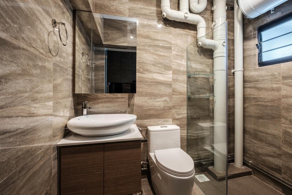 Modern, HDB, Bathroom, Sengkang East Way (Block 122B), Interior Designer, DB Studio, Contemporary, Toilet