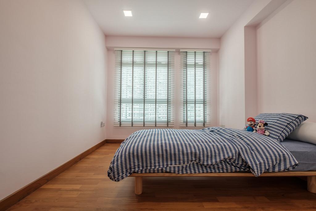Minimalistic, HDB, Bedroom, Waterway Cascadia (Block 316B), Interior Designer, DB Studio, Indoors, Interior Design, Room