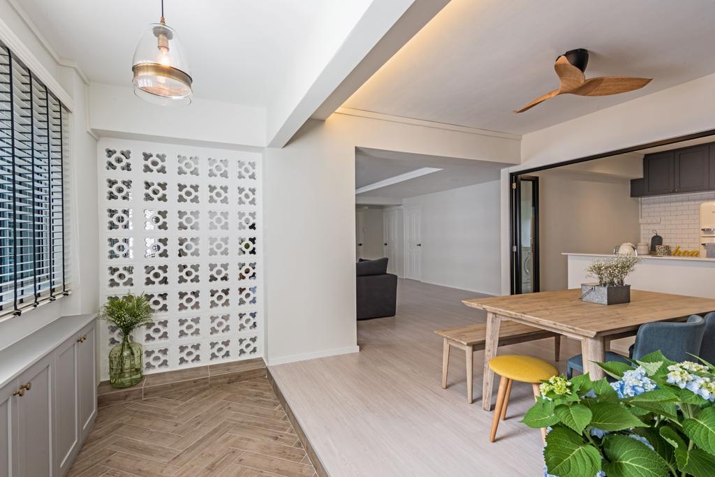 Minimalistic, HDB, Dining Room, Choa Chu Kang (Block 515), Interior Designer, DB Studio, Indoors, Interior Design, Dining Table, Furniture, Table, Room