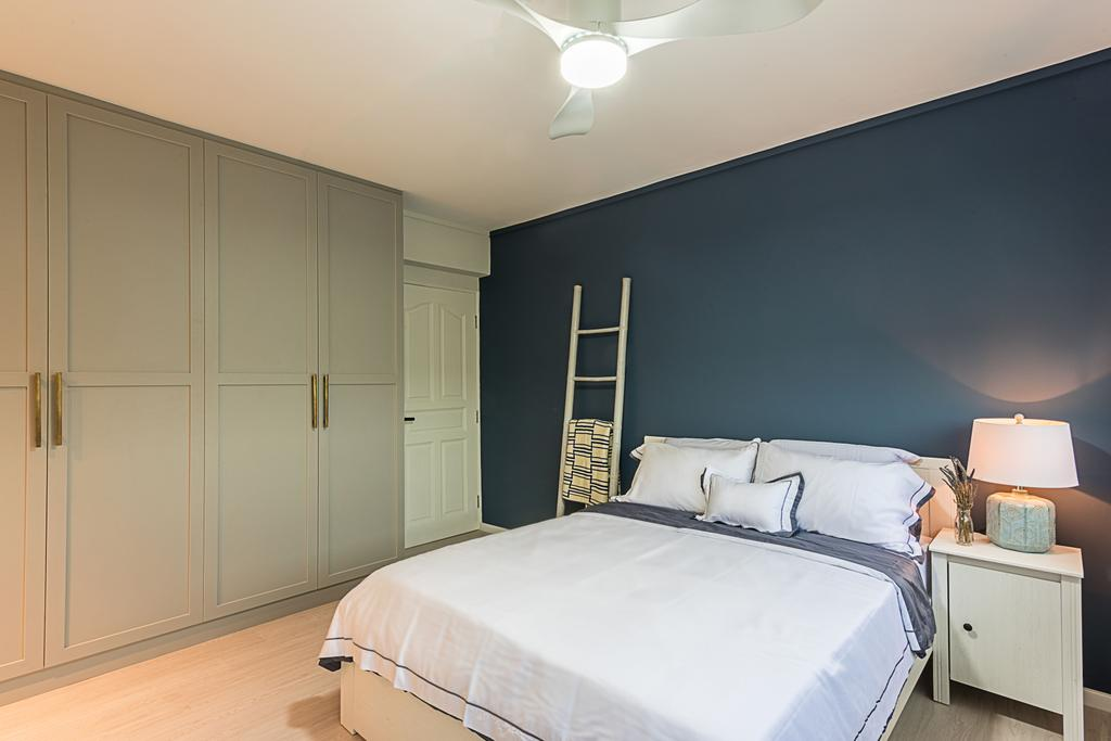 Minimalistic, HDB, Bedroom, Choa Chu Kang (Block 515), Interior Designer, DB Studio, Indoors, Interior Design, Room, Bed, Furniture