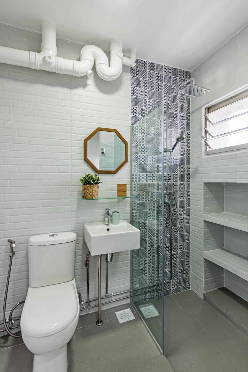 Minimalistic, HDB, Bathroom, Choa Chu Kang (Block 515), Interior Designer, DB Studio, Sink, Indoors, Interior Design, Room, Wall, Siding
