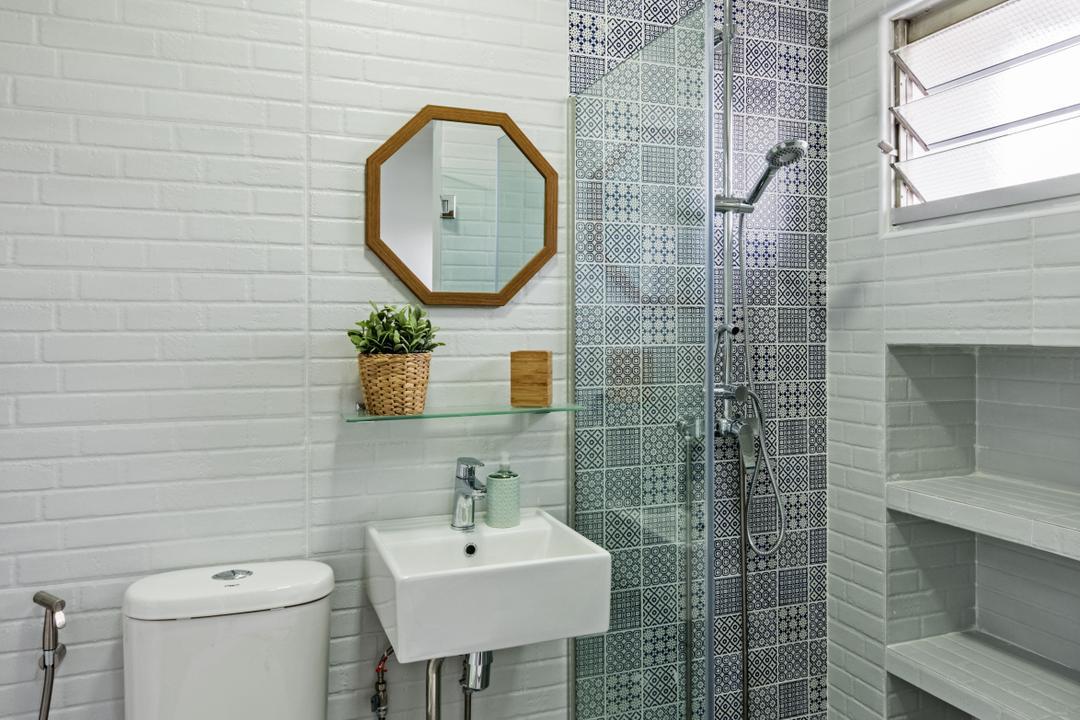 Choa Chu Kang (Block 515), DB Studio, Minimalistic, Bathroom, HDB, Sink, Indoors, Interior Design, Room, Wall, Siding