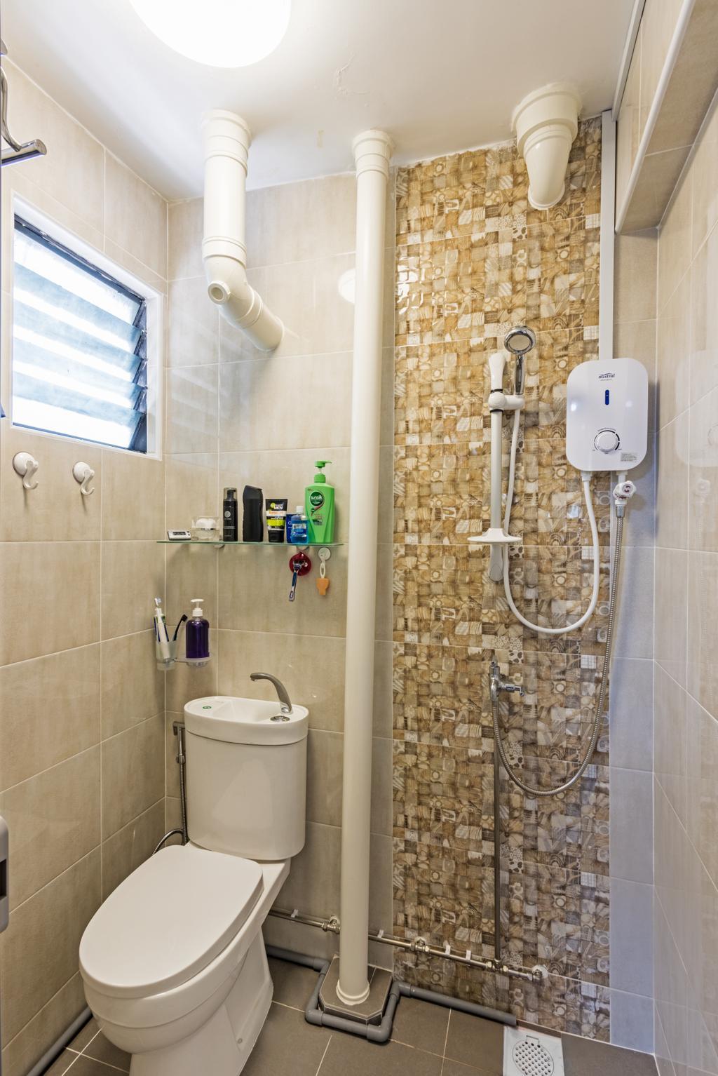 Modern, HDB, Bathroom, Bedok North (Block 519), Interior Designer, DB Studio, Plumbing