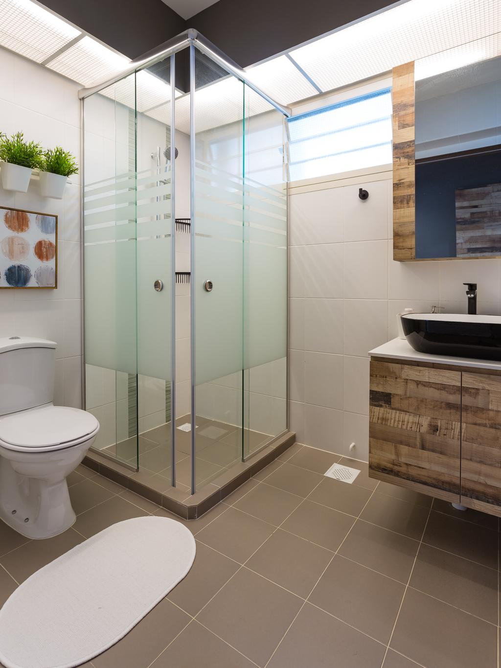Scandinavian, HDB, Bathroom, Bukit Batok (Block 296), Interior Designer, INCLOVER DESIGN, Toilet, Indoors, Interior Design, Room