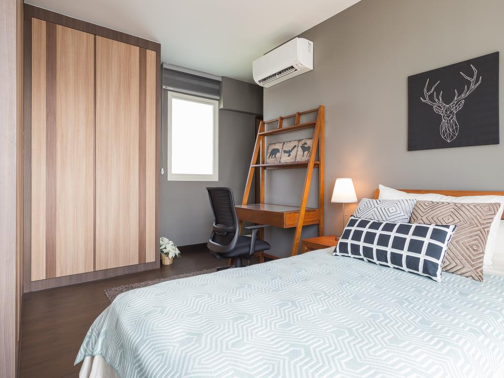 Scandinavian, HDB, Bedroom, Bukit Batok (Block 296), Interior Designer, INCLOVER DESIGN, Chair, Furniture, Indoors, Interior Design, Room