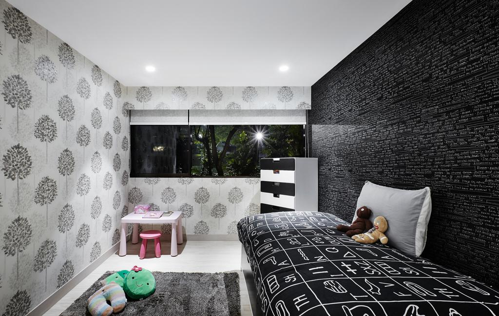 Modern, Landed, Bedroom, Hillcrest Arcadia, Interior Designer, akiHAUS, Indoors, Interior Design, Room, Bed, Furniture, Chair