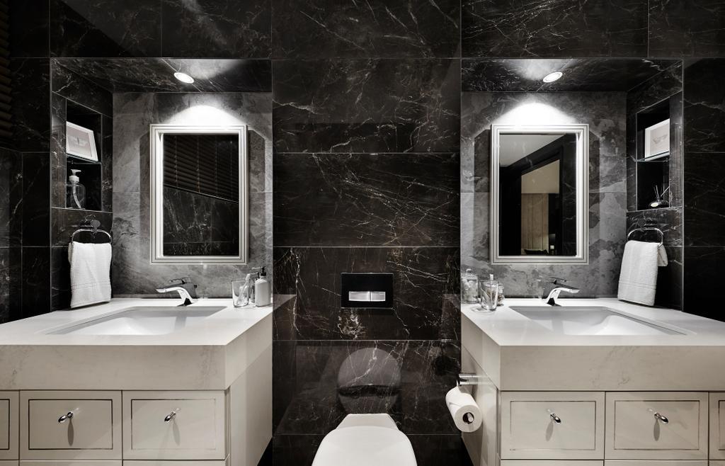 Modern, Landed, Bathroom, Hillcrest Arcadia, Interior Designer, akiHAUS, Indoors, Interior Design, Room