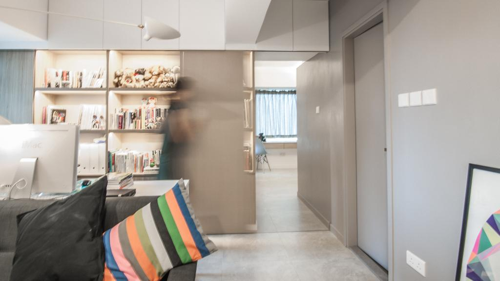 簡約, 私家樓, 慧安園, 室內設計師, Zinc Studio, 摩登, Shelf, Blanket, Home Decor