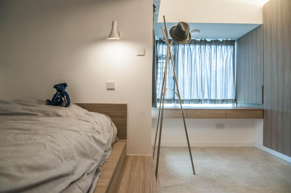 簡約, 私家樓, 睡房, 慧安園, 室內設計師, Zinc Studio, 摩登, Bed, Furniture, Flooring, Indoors, Interior Design, Room