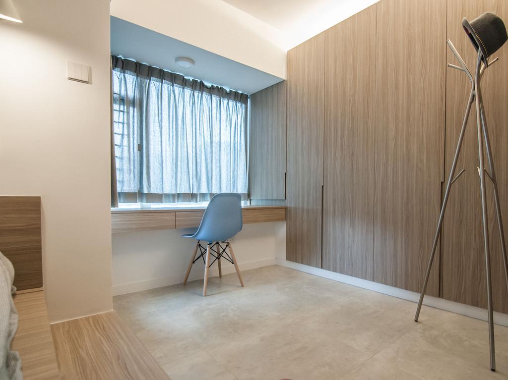 簡約, 私家樓, 書房, 慧安園, 室內設計師, Zinc Studio, 摩登, Tripod, Chair, Furniture, Flooring