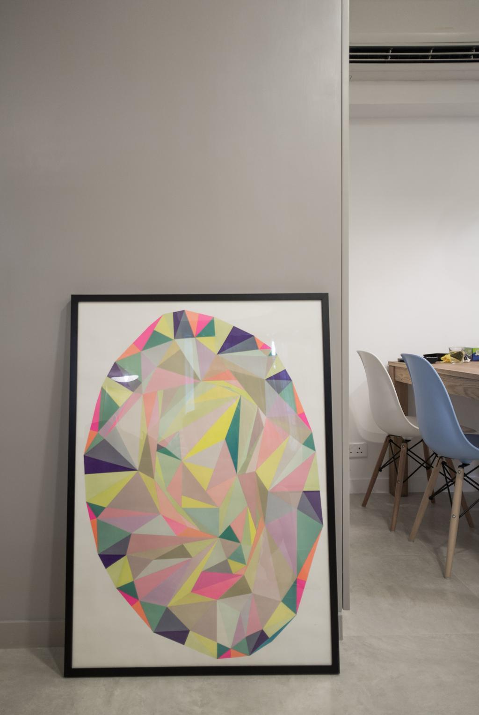 簡約, 私家樓, 慧安園, 室內設計師, Zinc Studio, 摩登, Chair, Furniture, Art