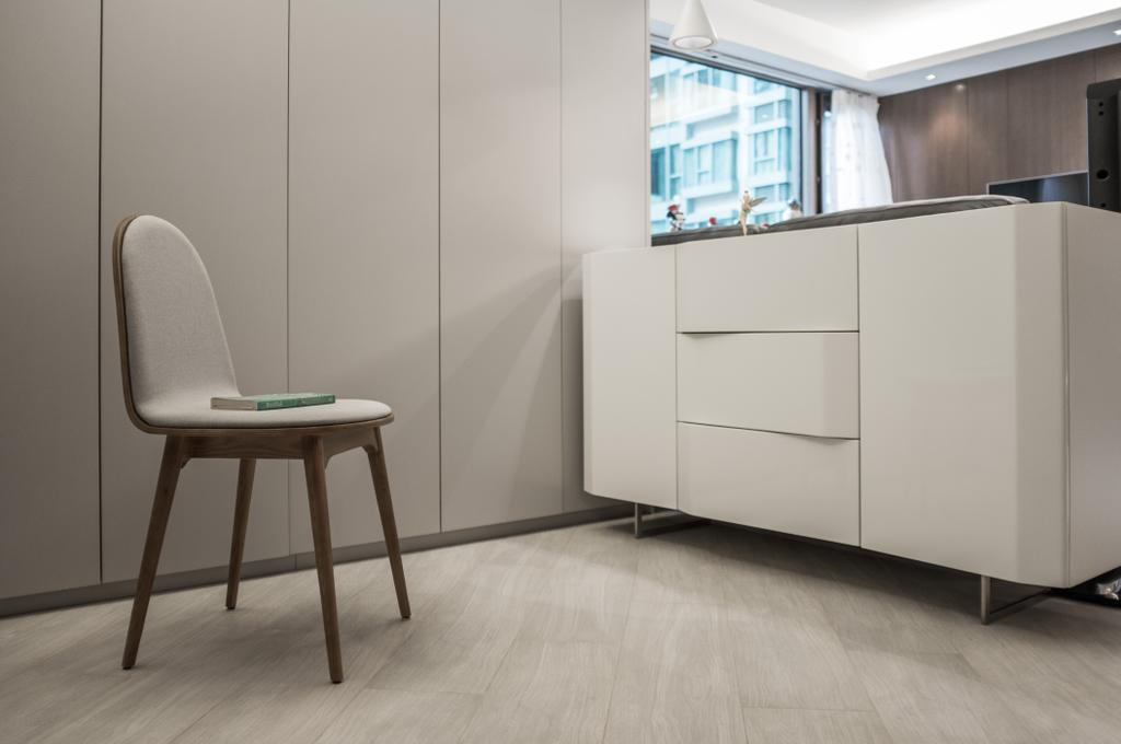 摩登, 私家樓, 飯廳, 海逸豪園, 室內設計師, Zinc Studio, Chair, Furniture, Flooring