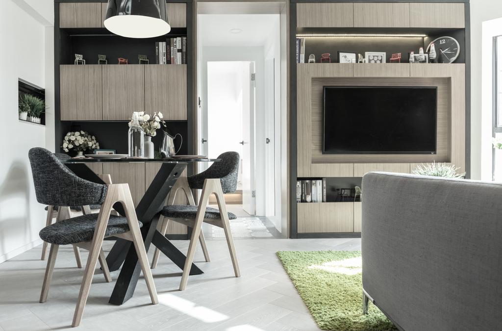 當代, 私家樓, 客廳, 怡峰園, 室內設計師, Zinc Studio, 北歐, Chair, Furniture, Indoors, Room