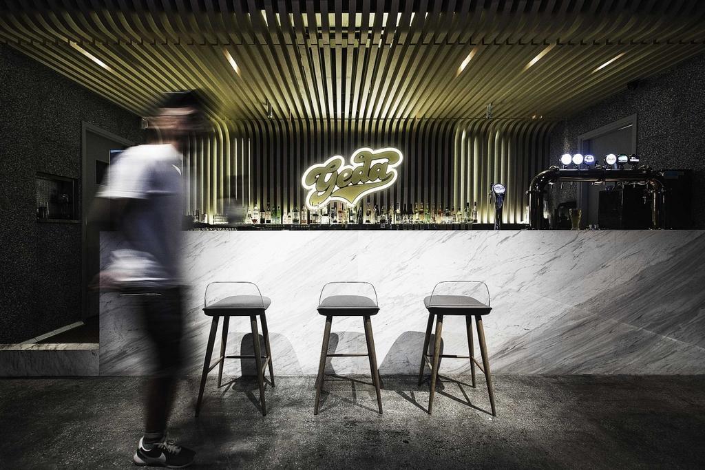 Geda, 商用, 室內設計師, Zinc Studio, 復古, 工業, Chair, Furniture, Human, People, Person, Bar Stool