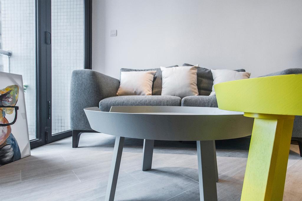 當代, 私家樓, 客廳, 駿景園, 室內設計師, Zinc Studio, Chair, Furniture, Couch