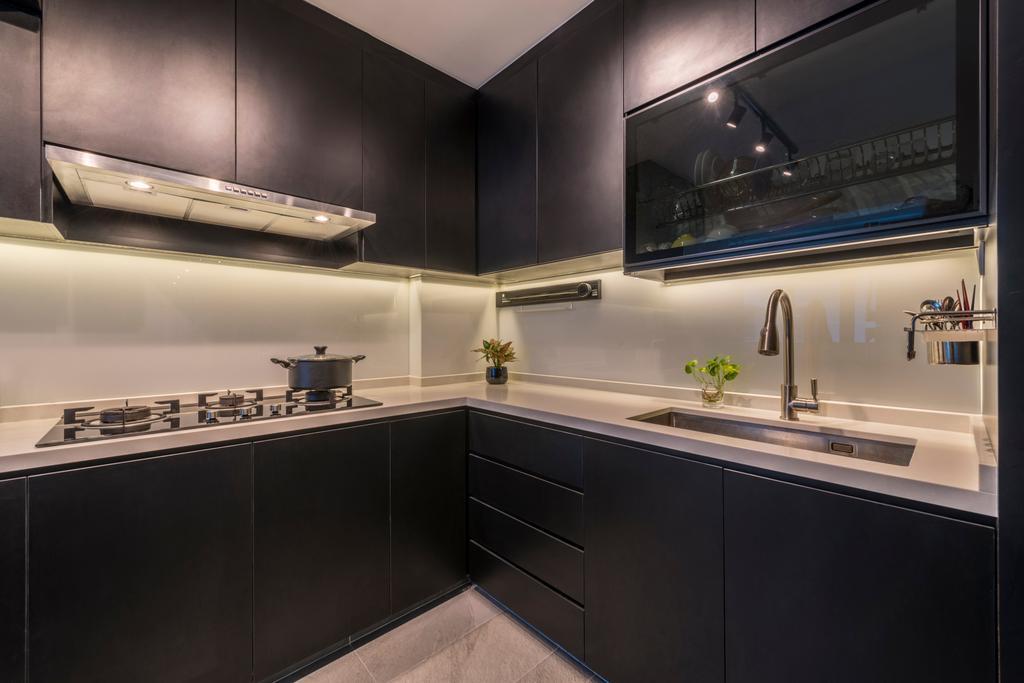 Modern, HDB, Kitchen, Telok Blangah, Interior Designer, Fifth Avenue Interior, Scandinavian, Indoors, Interior Design, Room, Appliance, Electrical Device, Oven, Sink
