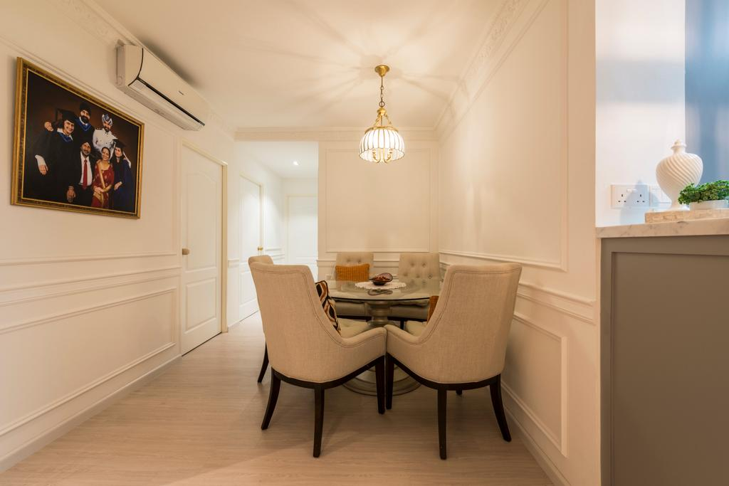 Contemporary, HDB, Dining Room, Compassvale Crescent (Block 286B), Interior Designer, Fifth Avenue Interior, Modern, Indoors, Interior Design, Room, Chair, Furniture, Dining Table, Table