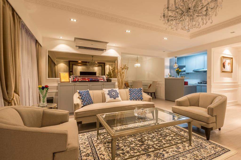 Contemporary, HDB, Living Room, Compassvale Crescent (Block 286B), Interior Designer, Fifth Avenue Interior, Modern, Couch, Furniture, Indoors, Interior Design, Chair, Building, Housing