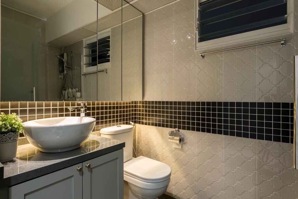 Contemporary, HDB, Bathroom, Compassvale Crescent (Block 286B), Interior Designer, Fifth Avenue Interior, Modern, Toilet, Indoors, Interior Design, Room, Bowl