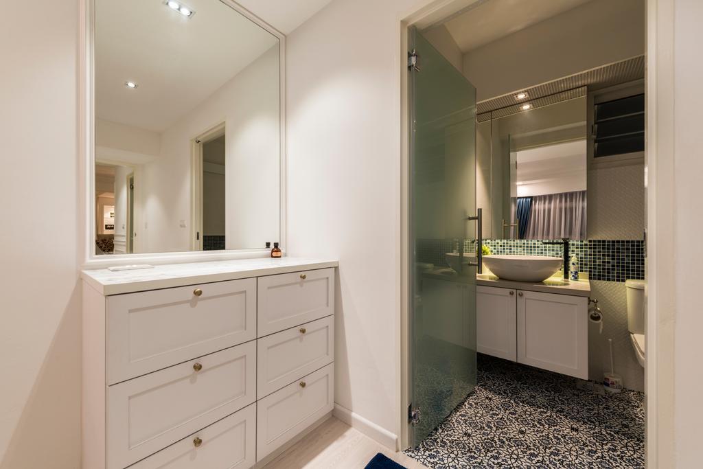 Contemporary, HDB, Bathroom, Compassvale Crescent (Block 286B), Interior Designer, Fifth Avenue Interior, Modern