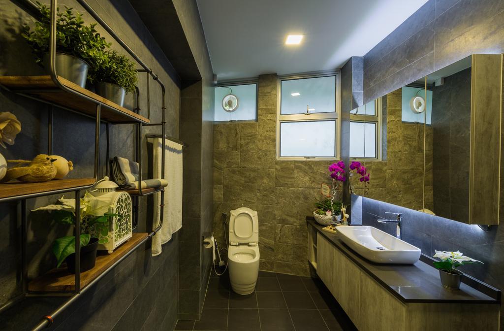 Flo Design Showroom, Commercial, Interior Designer, Flo Design, Modern, Scandinavian, Bathroom, Toilet, Sink, Lighting, Indoors, Interior Design, Flora, Jar, Plant, Potted Plant, Pottery, Vase