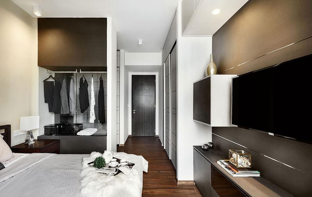 Contemporary, Condo, Bedroom, Jewel @Buangkok, Interior Designer, Icon Interior Design, Closet, Furniture, Wardrobe, Shelf, Indoors, Room, Lamp, Table Lamp