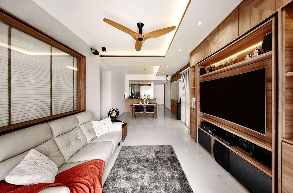 Contemporary, Condo, Living Room, Jewel @Buangkok, Interior Designer, Icon Interior Design, Couch, Furniture, Indoors, Room, Electronics, Entertainment Center