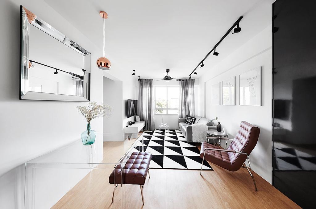 Scandinavian, HDB, Living Room, Circuit Road (Block 18D), Interior Designer, Icon Interior Design, Flooring, Furniture, Indoors, Interior Design