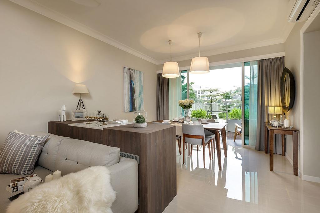 Contemporary, Condo, Living Room, One Canberra, Interior Designer, Icon Interior Design, Dining Table, Furniture, Table, Dining Room, Indoors, Interior Design, Room, Couch