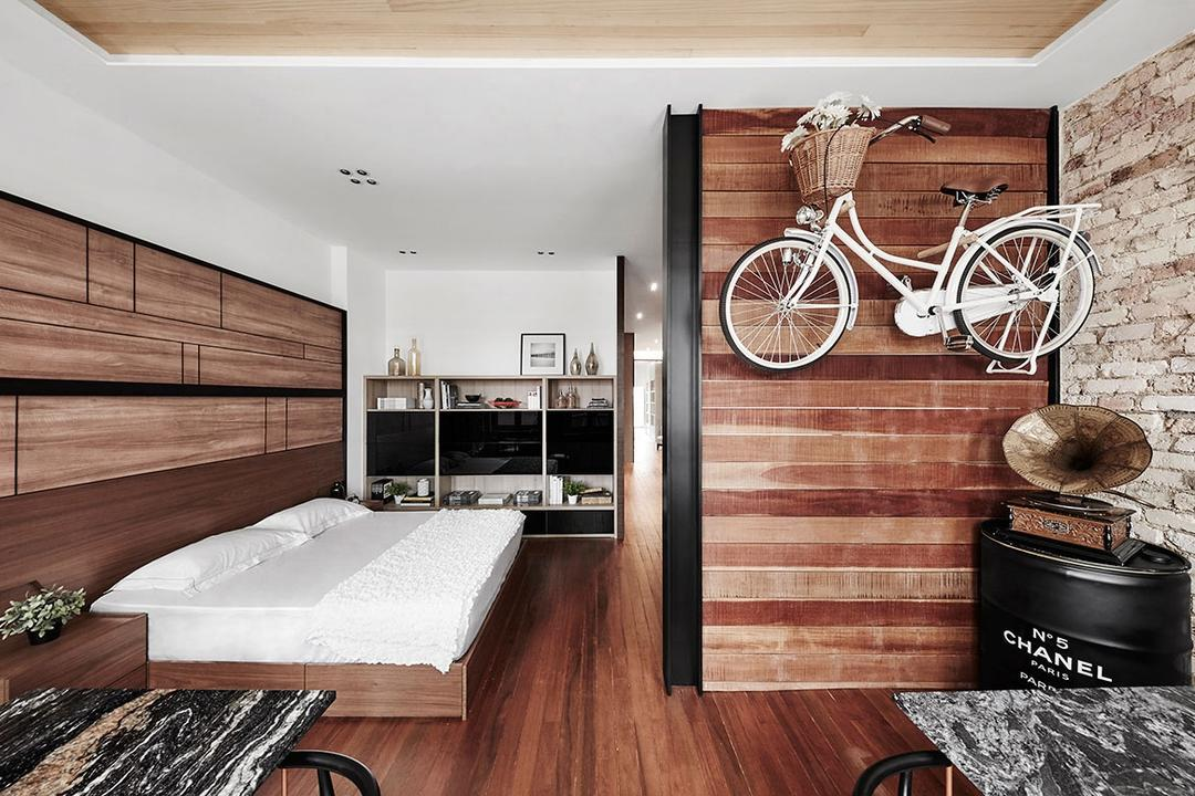 Icon Interior Showroom, Icon Interior Design, Eclectic, Bedroom, Commercial, Bicycle, Bike, Transportation, Vehicle, Flora, Jar, Plant, Potted Plant, Pottery, Vase, Indoors, Interior Design, Kitchen, Room