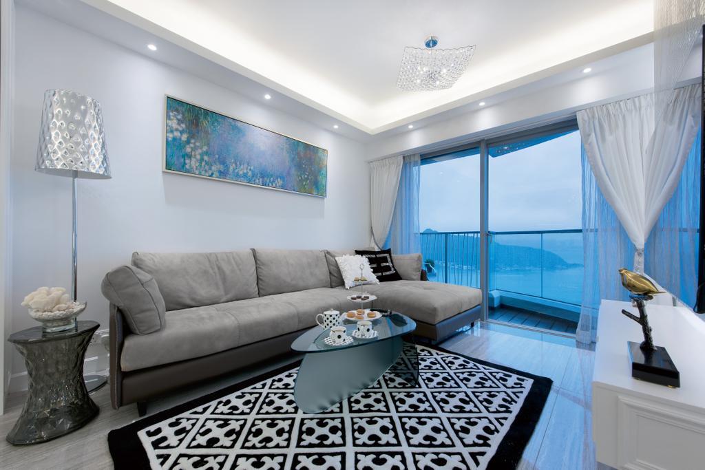 摩登, 私家樓, 客廳, 嘉亨灣, 室內設計師, Space Design, Couch, Furniture, Indoors, Interior Design
