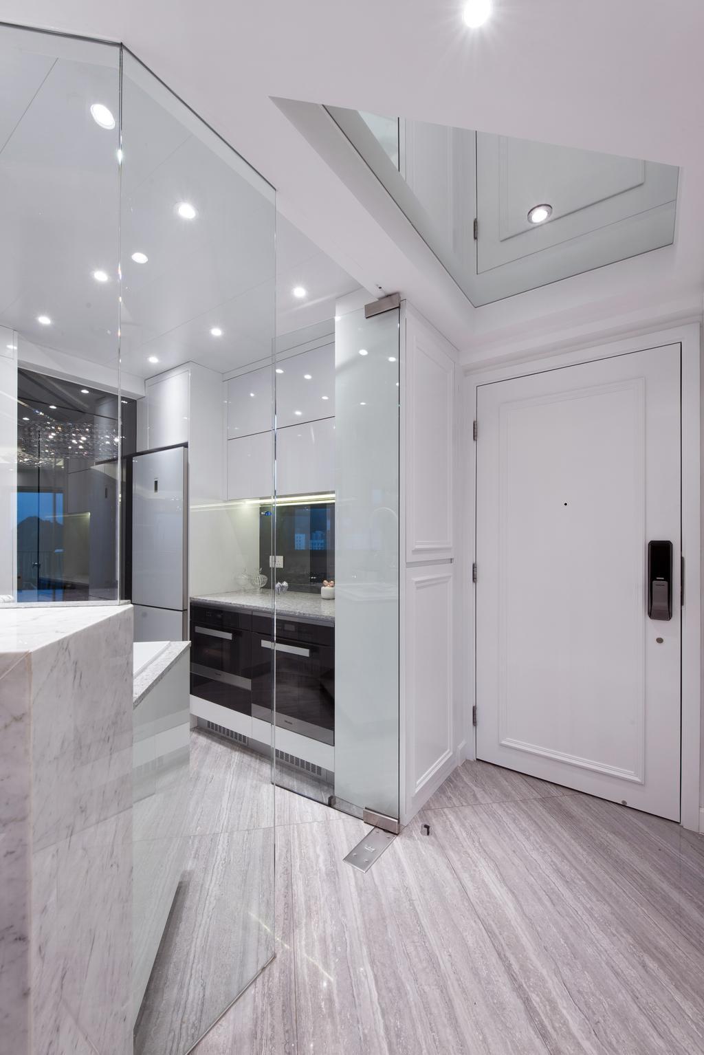 摩登, 私家樓, 客廳, 嘉亨灣, 室內設計師, Space Design, Door, Sliding Door