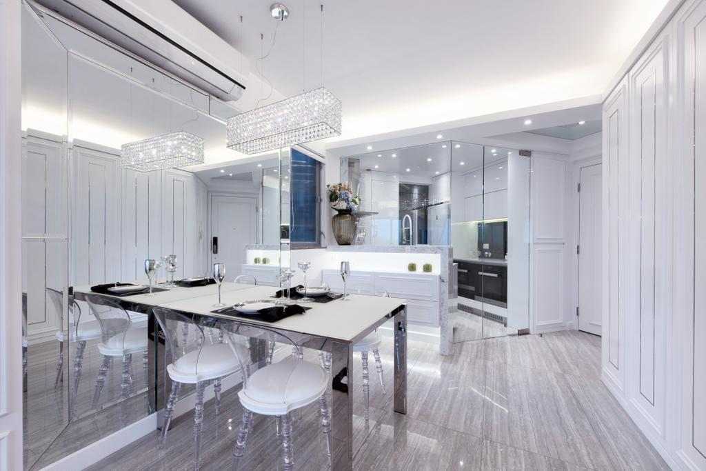 摩登, 私家樓, 飯廳, 嘉亨灣, 室內設計師, Space Design, Chair, Furniture, Flooring