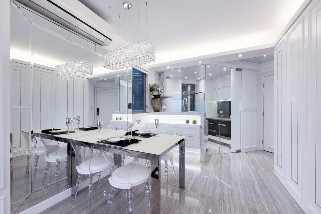 摩登, 私家樓, 飯廳, 嘉亨灣, 室內設計師, Space Design, Sink, Chair, Furniture