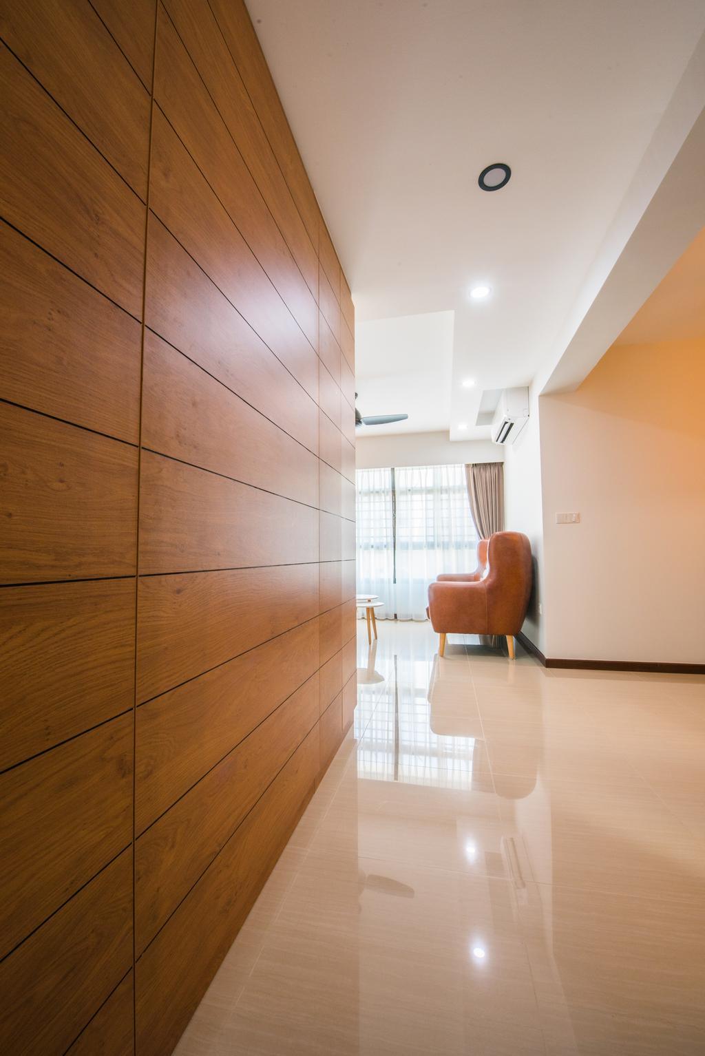 Contemporary, HDB, Living Room, Yishun Avenue 4, Interior Designer, Glamour Concept, Floor, Flooring