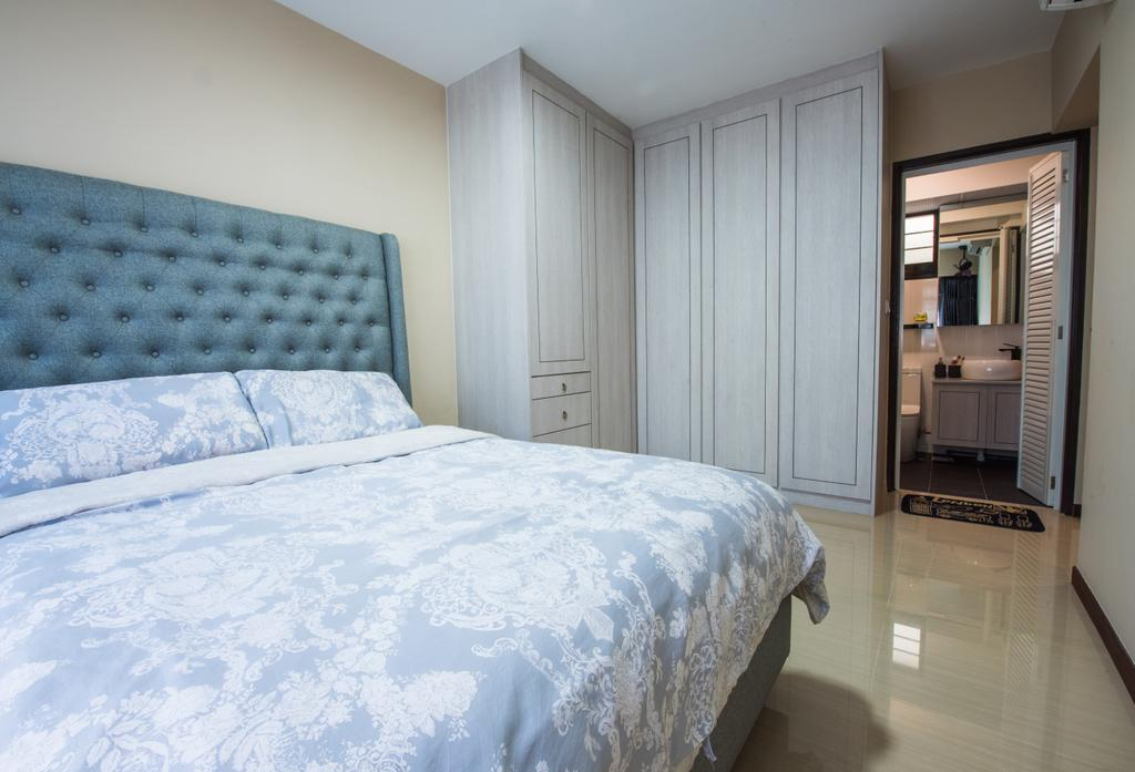 Contemporary, HDB, Bedroom, Yishun Avenue 4, Interior Designer, Glamour Concept, Bed, Furniture, Indoors, Interior Design, Room