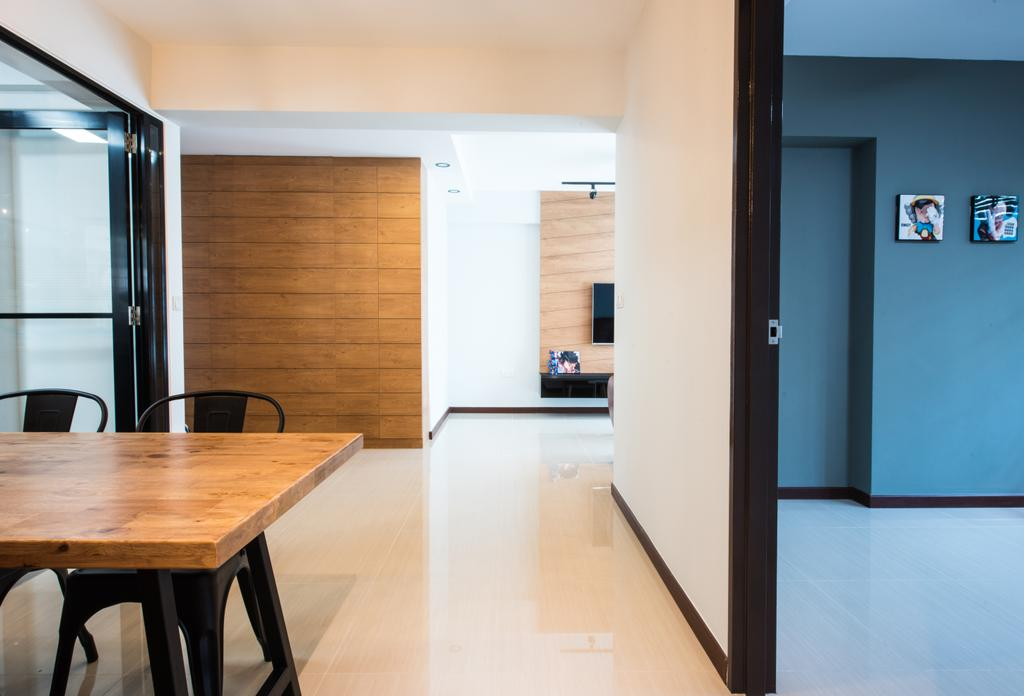 Contemporary, HDB, Dining Room, Yishun Avenue 4, Interior Designer, Glamour Concept, Dining Table, Furniture, Table