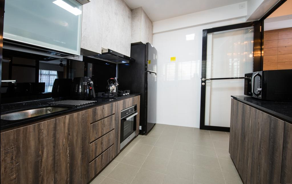 Contemporary, HDB, Kitchen, Yishun Avenue 4, Interior Designer, Glamour Concept, Indoors, Interior Design, Room