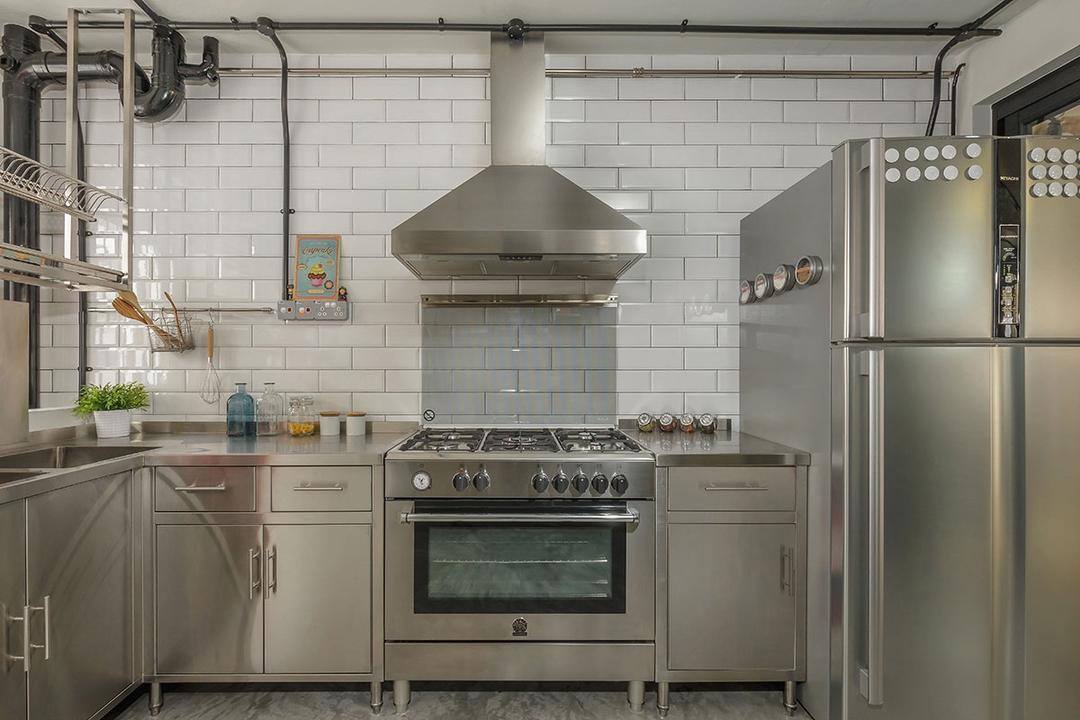 Kim Keat Link (Block 246), Icon Interior Design, Industrial, Kitchen, HDB, Plumbing
