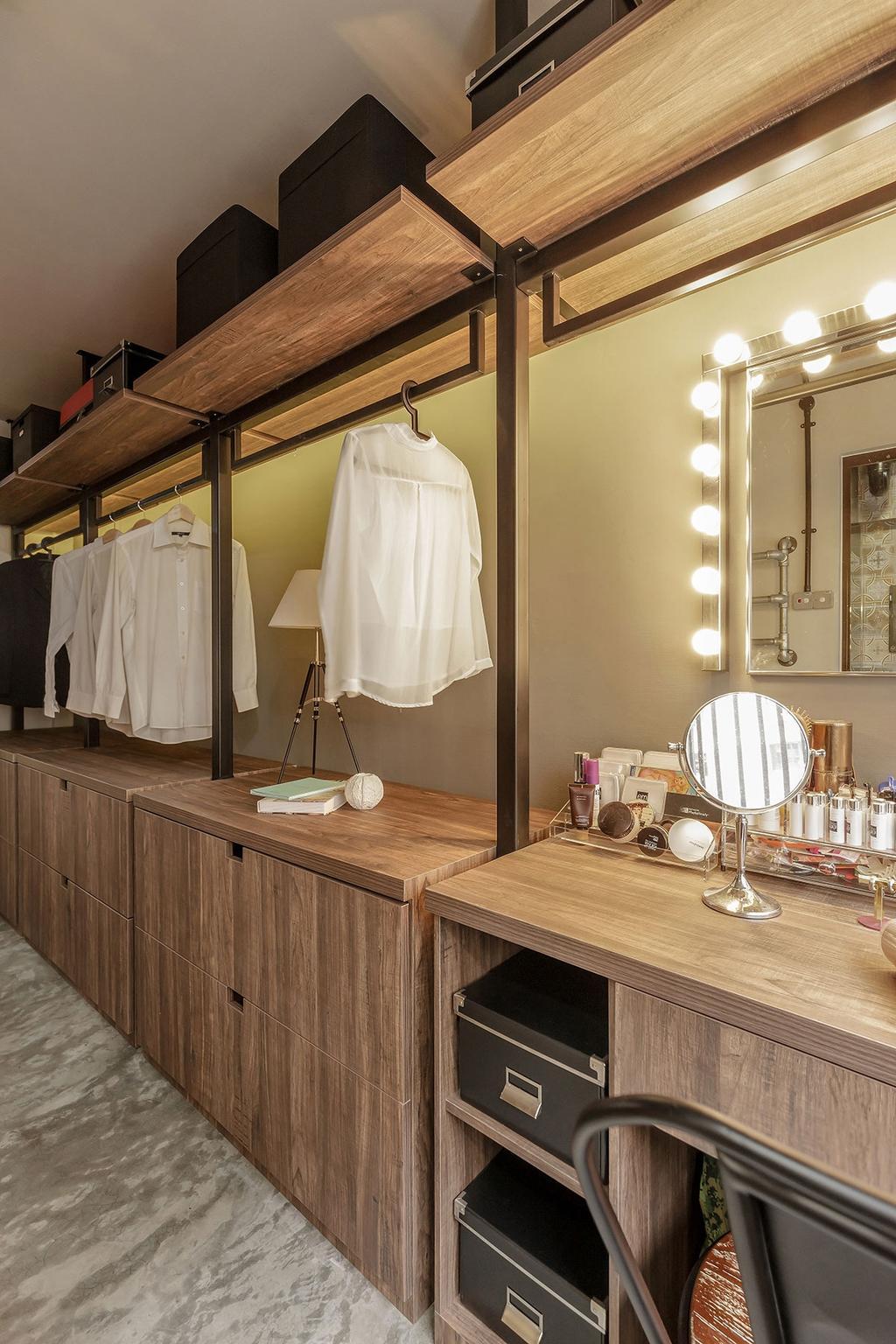 Industrial, HDB, Bedroom, Kim Keat Link (Block 246), Interior Designer, Icon Interior Design, Towel, Furniture