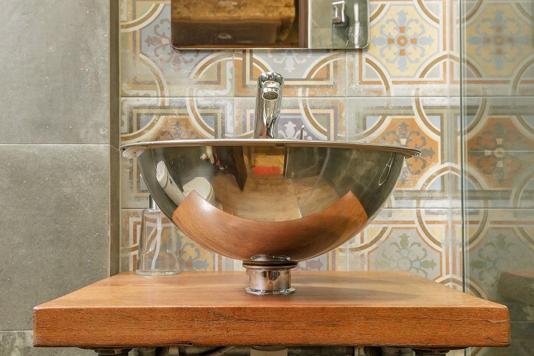 Kim Keat Link (Block 246), Icon Interior Design, Industrial, Bathroom, HDB, Glass, Goblet