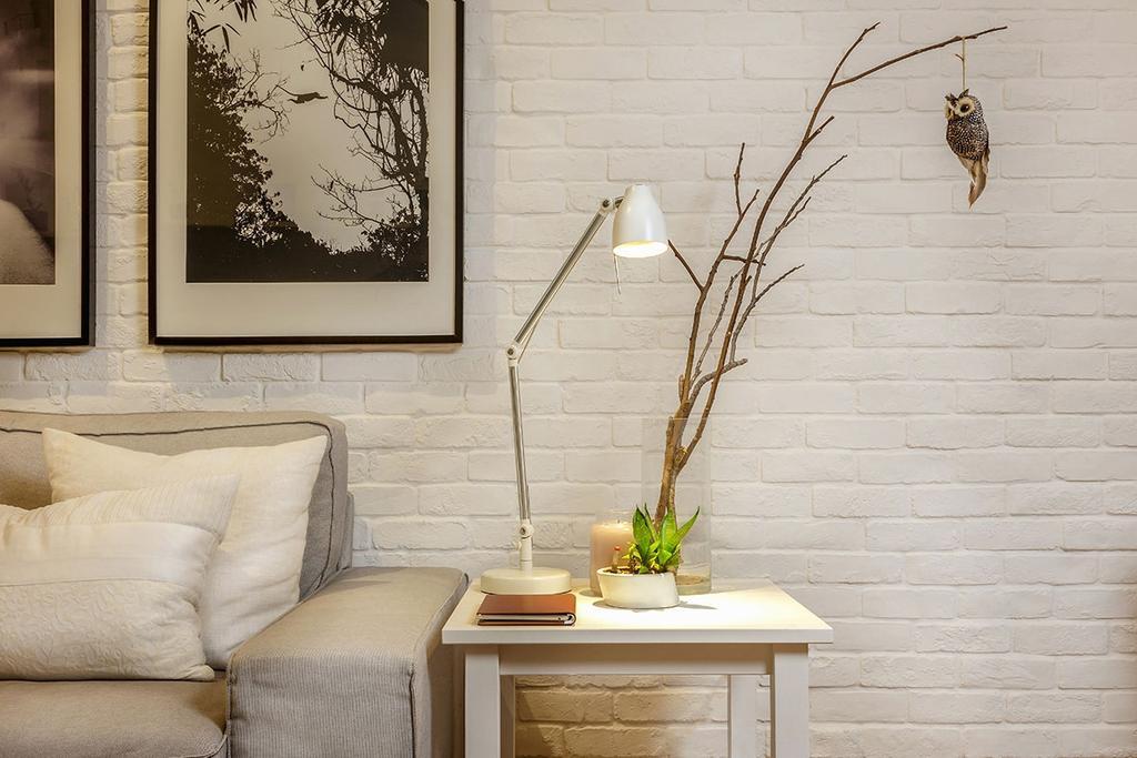 Scandinavian, Condo, Living Room, Sunset Way, Interior Designer, Icon Interior Design, Flora, Jar, Plant, Potted Plant, Pottery, Vase, Couch, Furniture, Sink