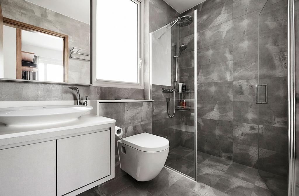 Modern, Condo, Bathroom, The Nautical, Interior Designer, Icon Interior Design, Indoors, Interior Design, Room, Toilet