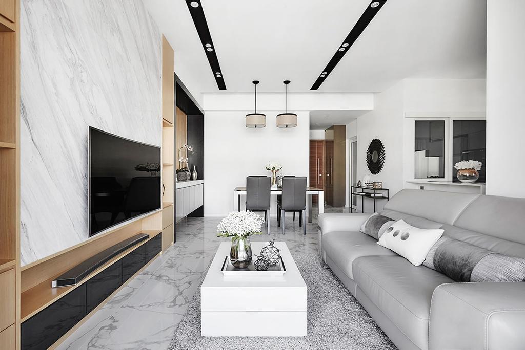 Modern, Condo, Living Room, The Nautical, Interior Designer, Icon Interior Design, Electronics, Entertainment Center, Indoors, Room