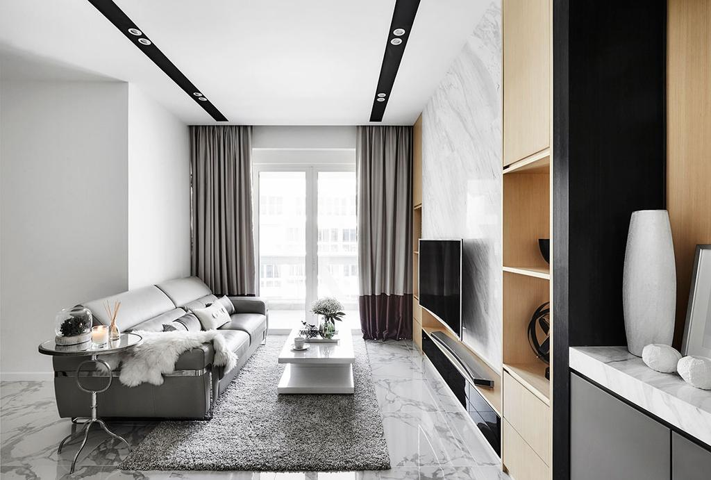 Modern, Condo, Living Room, The Nautical, Interior Designer, Icon Interior Design