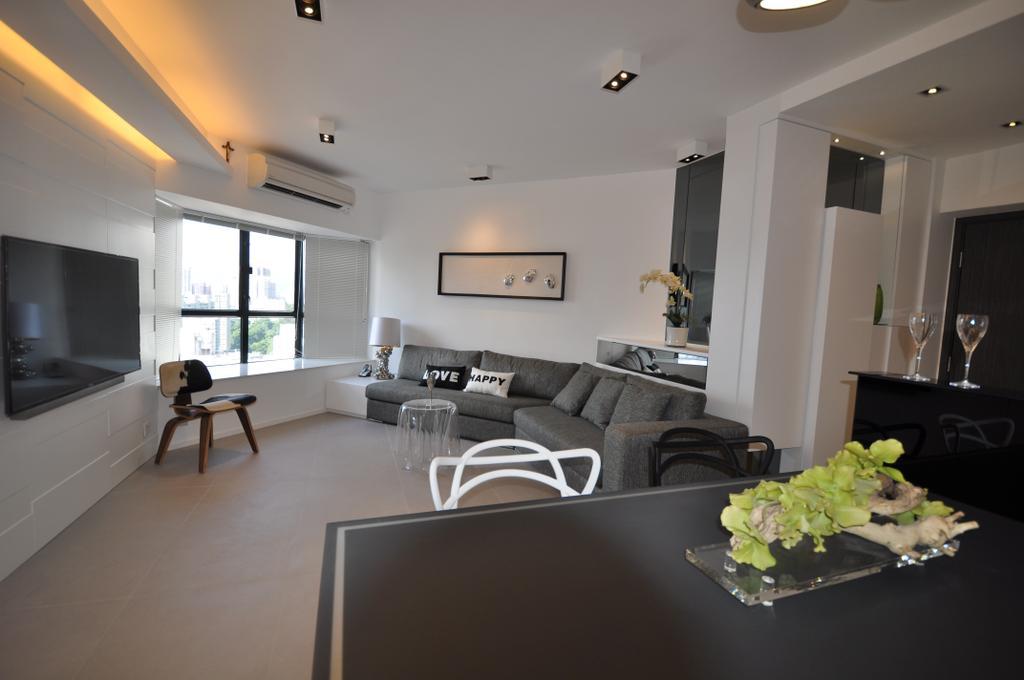 摩登, 私家樓, 客廳, 光明台, 室內設計師, Space Design