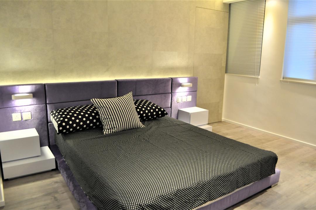 金星閣, Space Design, 摩登, 工業, 睡房, 私家樓, Bed, Furniture, Drawer